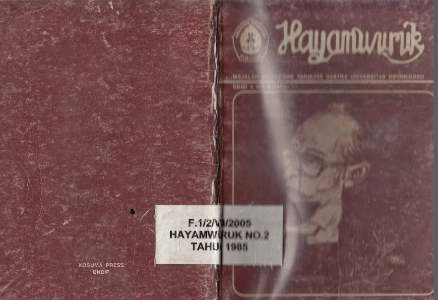 Hayamwuruk No.1-II-1985 Sastrawan Sebagai Kontrol Budaya