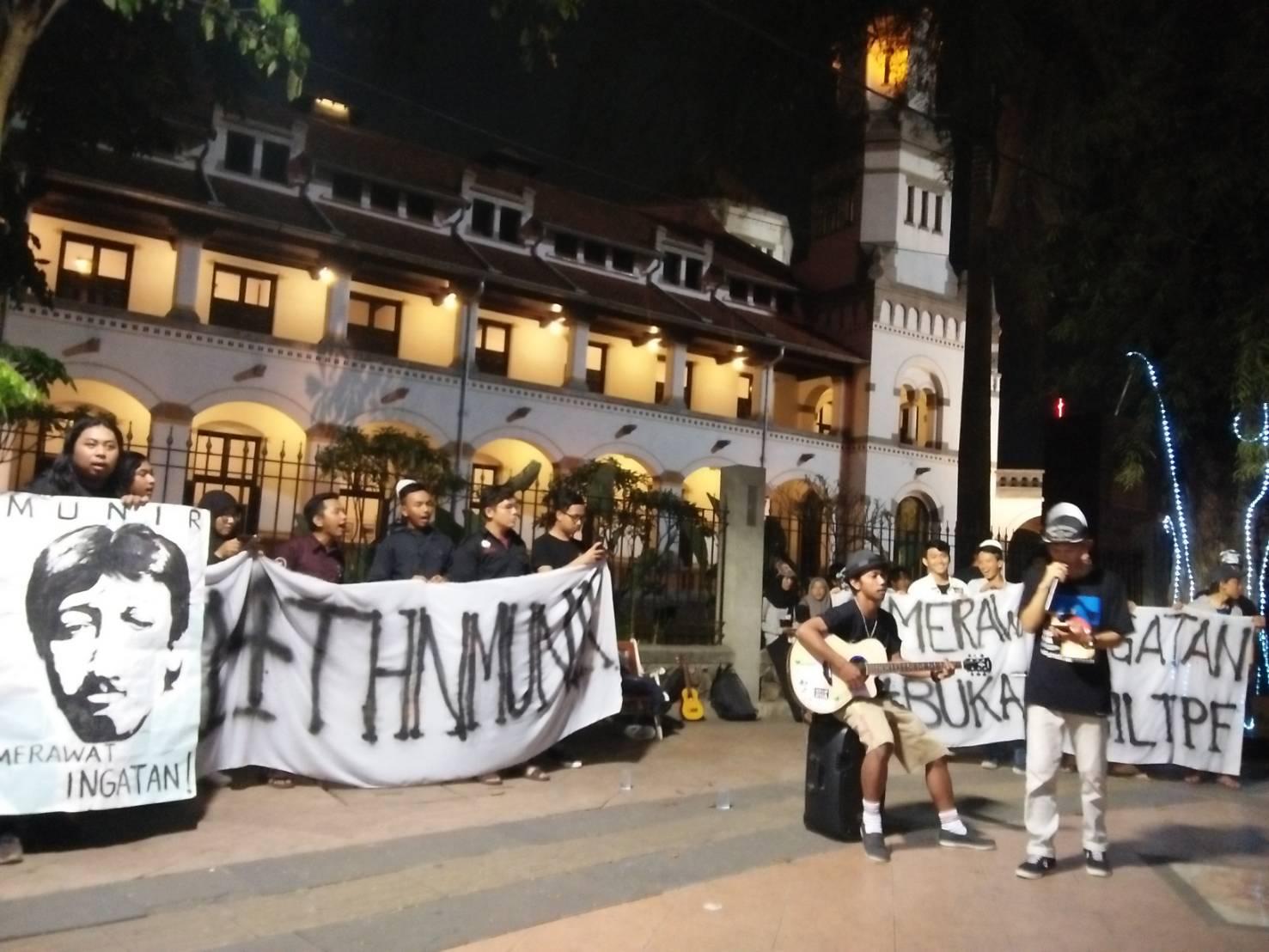 Aktivis Semarang  Peringati  14 Tahun Kematian Munir