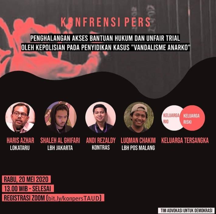 Pengakuan LBH Jakarta atas Intimidasi Tersangka Anarko Sindikalis Tangerang