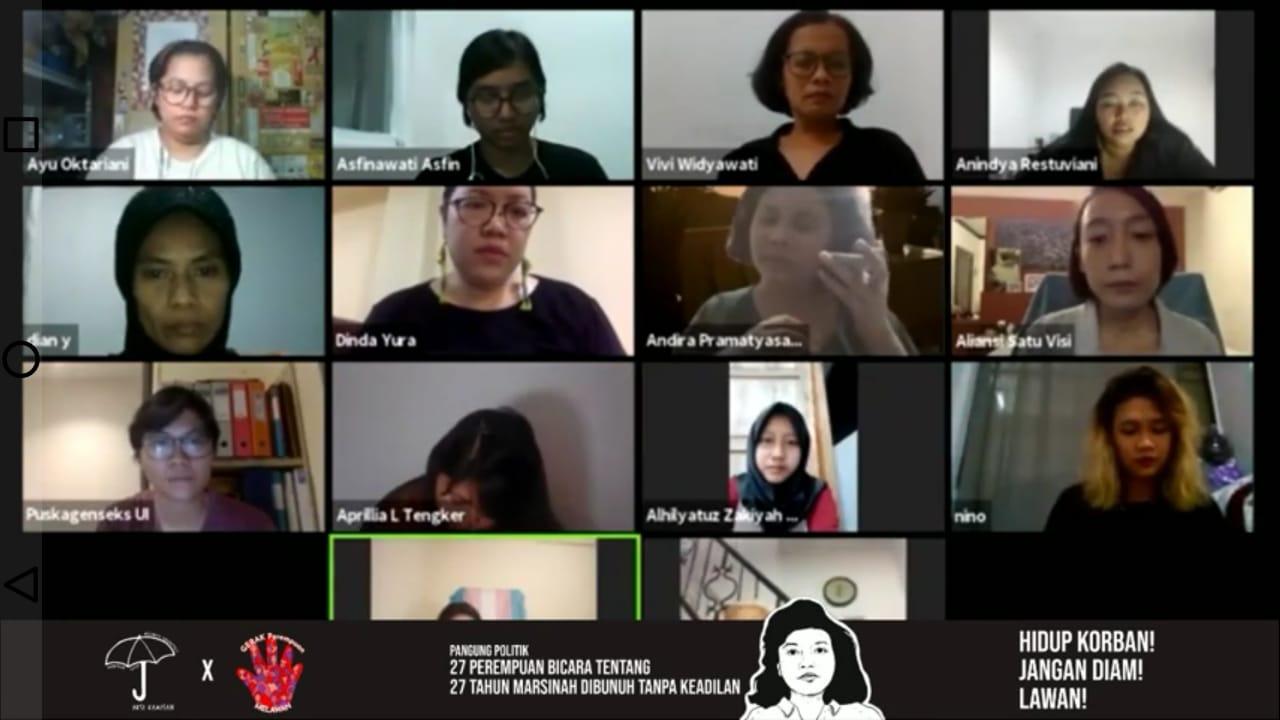 Peringati 27 Tahun Kematian Marsinah, 27 Perempuan Bersuara