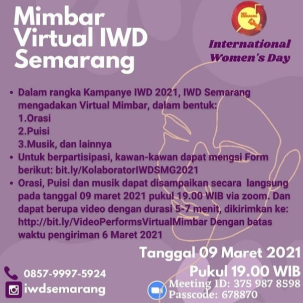 Virtual Mimbar International Women's Day Semarang