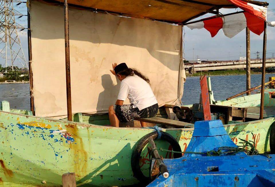 Seniman Semarang Gelar Pertunjukan Seni Lukis di Tambakrejo