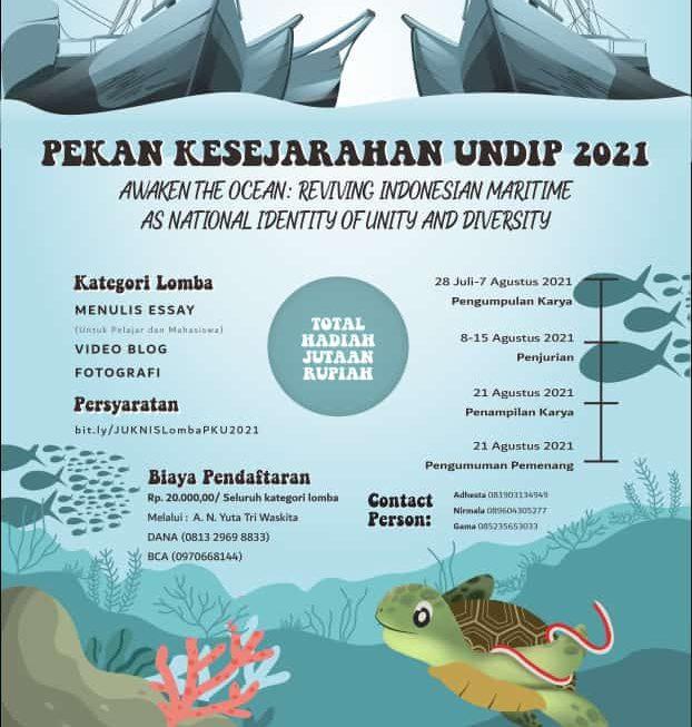 PKU 2021 Usung Tema Sejarah Maritim Indonesia